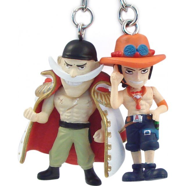 Banpresto One Piece Pre-Painted PVC Twin Key Chain Vol. 1: Whitebeard + Ace