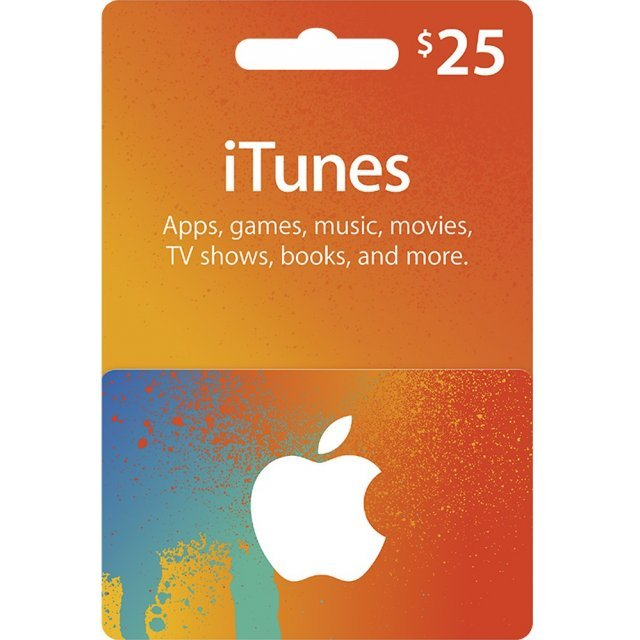 iTunes Card (USD 25 / for US accounts only) Digital