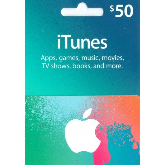 iTunes Card (US$ 50 / for US accounts only)