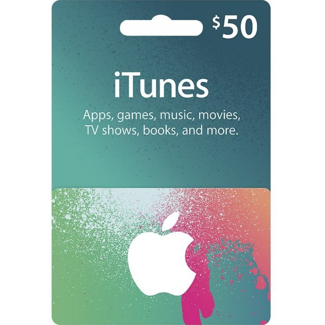 iTunes Card (USD 50 / for US accounts only)