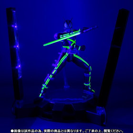S.H.Figuarts Kamen Rider Non Scale Pre-Painted PVC Figure: Kaiza Glowing Stage Set
