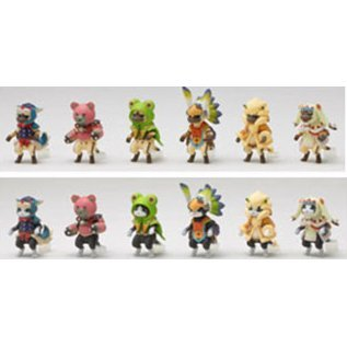 Monster Hunter Figure Builder Pre-Painted  PVC Trading Figure: Light Model Otomo Airou Vol.2
