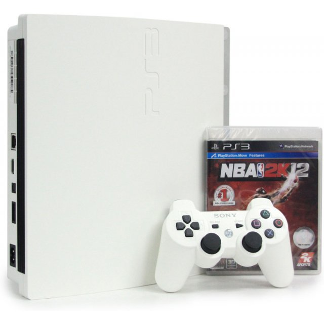 PlayStation3 Slim Console - NBA 2k12 Value Pack (HDD 160GB Classic White Model) - 220V