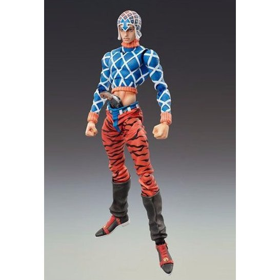 Super Figure JoJo's Bizarre Adventure Part 5 Non Scale Pre-Painted PVC Figure: Guido Mista & Sex Pistols  (Hirohiko Araki Specify Color)