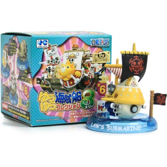 One Piece Pirate Ship Yura Yura Collection Vol. 3 Pre-Painted Trading Figure