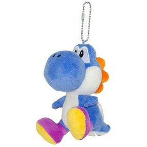 Super Mario Series Plush Doll: Blue Yoshi Mascot