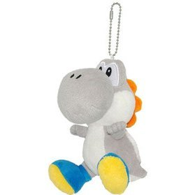 Super Mario Series Plush Doll: Grey Yoshi Mascot