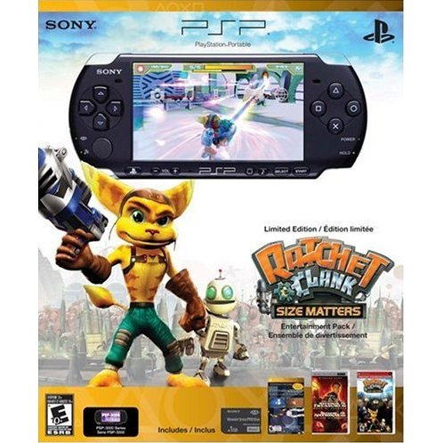 PSP 3000 Limited Edition Ratchet & Clank Entertainment Pack - Black