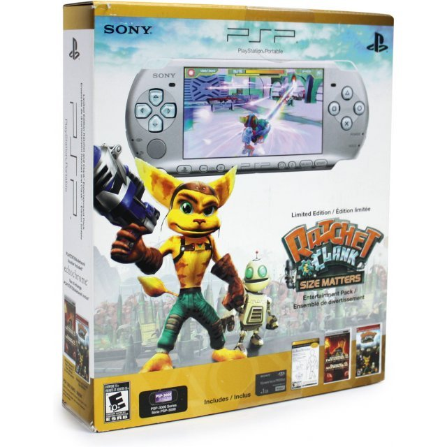 PSP 3000 Limited Edition Ratchet and Clank Entertainment Pack (Silver)