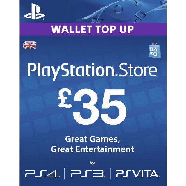 PSN Card 35 GBP | Playstation Network UK