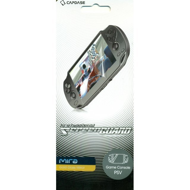 Capdase Mira Professional Screenguard (Gold Glass Mirror) Screen & Sides Panel PS Vita