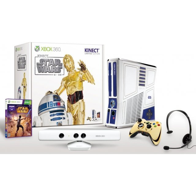 Xbox 360 320gb kinect star wars limited edition import from japan.