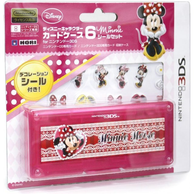 Disney Character Card Case 6 Seal Set for Nintendo 3DS (Minnie)