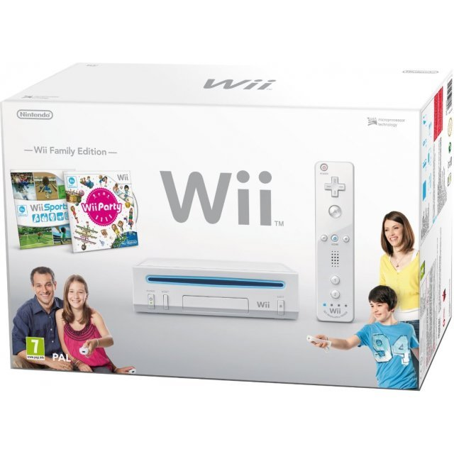 Nintendo Wii Console (w/ Wii Sports and Wii Party) (White)