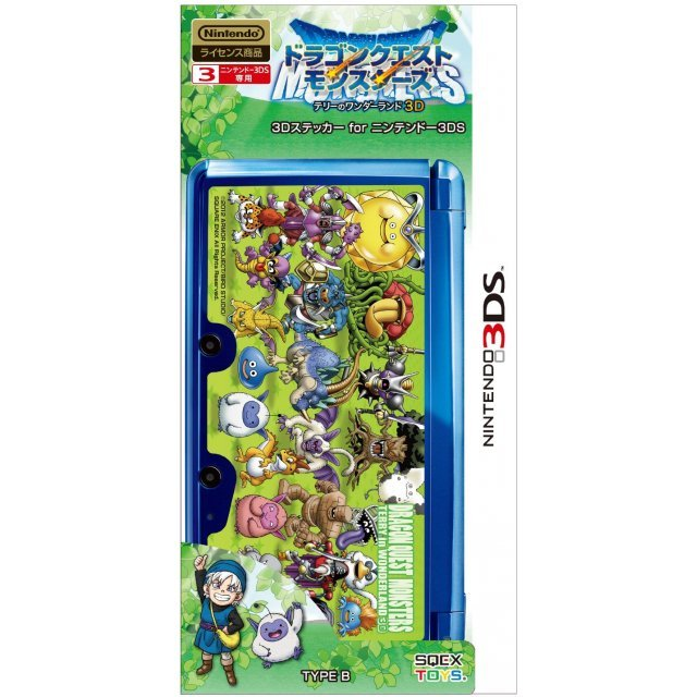 Dragon Quest Monsters Terry no Wonderland 3D Sticker for Nintendo 3DS [Type B]