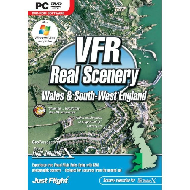 VFR Real Scenery Volume 3: Wales and South West England (DVD-ROM)