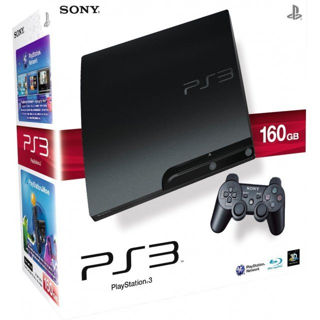 PlayStation3 Slim Console (HDD 160GB Classic Black Model)