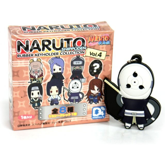 D4 Naruto Shippuden Trading Rubber Key Holder Collection Vol.4