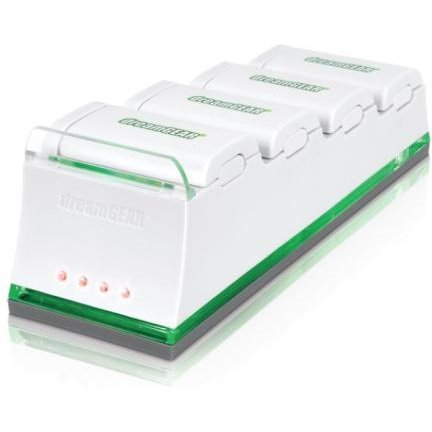 DreamGear QUAD Dock Pro (Batteries Sold Seperately) (White)