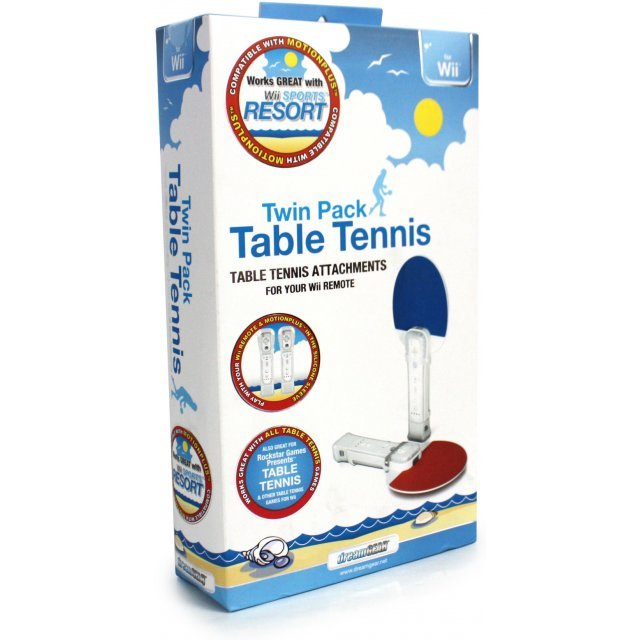 DreamGear Table Tennis Twin Pack for Wii- Red and Blue