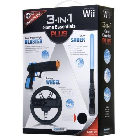DreamGear 3 in 1 Game Essentials PLUS - Rubberized Black