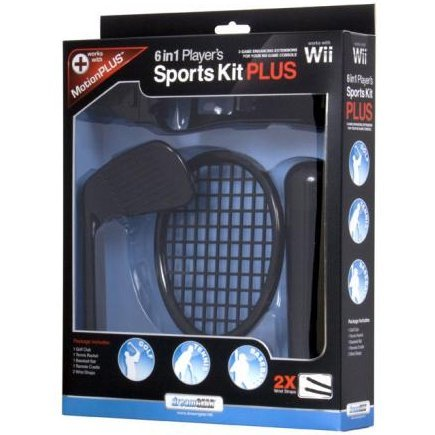 DreamGear 6 In 1 Player's Sports Kit PLUS -  Black