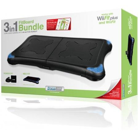 DreamGear 3 in 1 FitBoard Bundle with Wii Fit Plus Game - Black