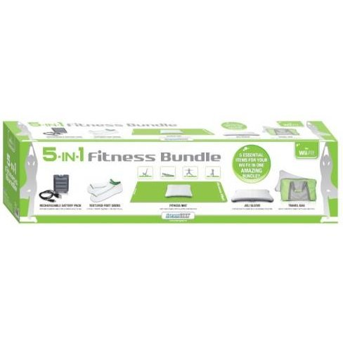 DreamGear 5-In-1 Fitness Bundle for Wii Fit - Green and Gray
