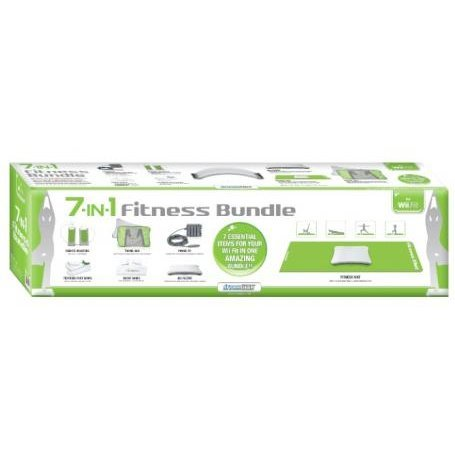 DreamGear 7-In-1 Fitness Bundle for Wii Fit - Green and Gray