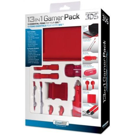 DreamGear 13 in 1 Gamer Pack for 3DS - Red