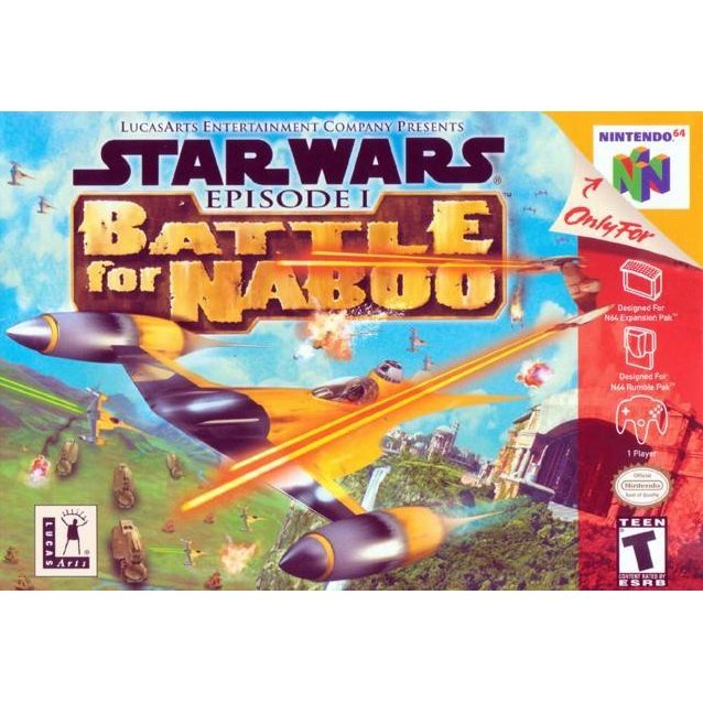 Star Wars: Episode I Battle for Naboo-cover game/ best game n64