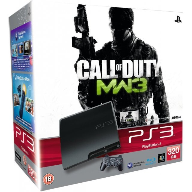 Playstation 3 Console 320gb Model With Call Of Duty Modern