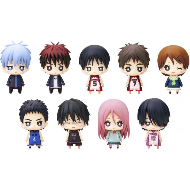 One Coin Mini Figure Collection Non Scale Pre-Painted PVC Figure: Kuroko's Basketball Second Quarter (Set of 9 pieces)