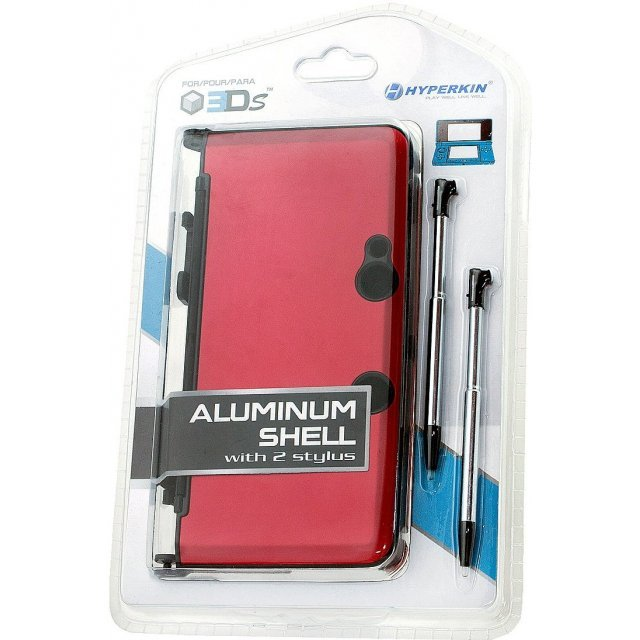 Hyperkin Nintendo 3DS Aluminum Shell plus Stylus Pens Kit (Red)