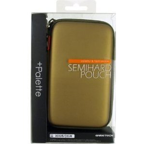 +Palette Semi Hard Pouch for 3DS (Dark Gold)