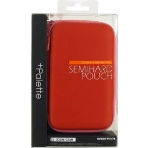 +Palette Semi Hard Pouch for 3DS (Carmine Red)