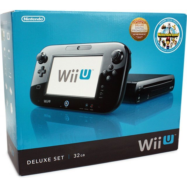 Nintendo wii u deluxe set 32gb black - Will wii u games play on wii console ...
