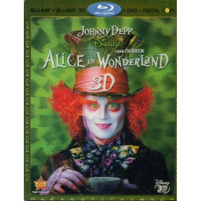 Alice In Wonderland 3D [Blu-ray+Blu-ray 3D+DVD+Digital Copy]