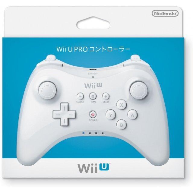 nintendo wii u pro controller white. Black Bedroom Furniture Sets. Home Design Ideas