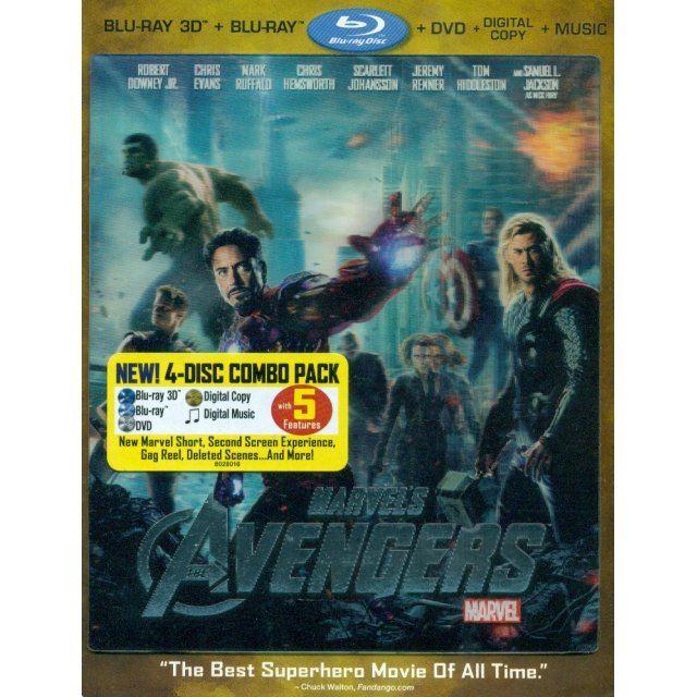The Avengers [Blu-ray 3D+Blu-ray+DVD+Digital Copy+Music]