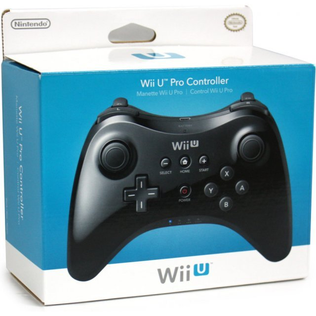 nintendo wii u pro controller black. Black Bedroom Furniture Sets. Home Design Ideas