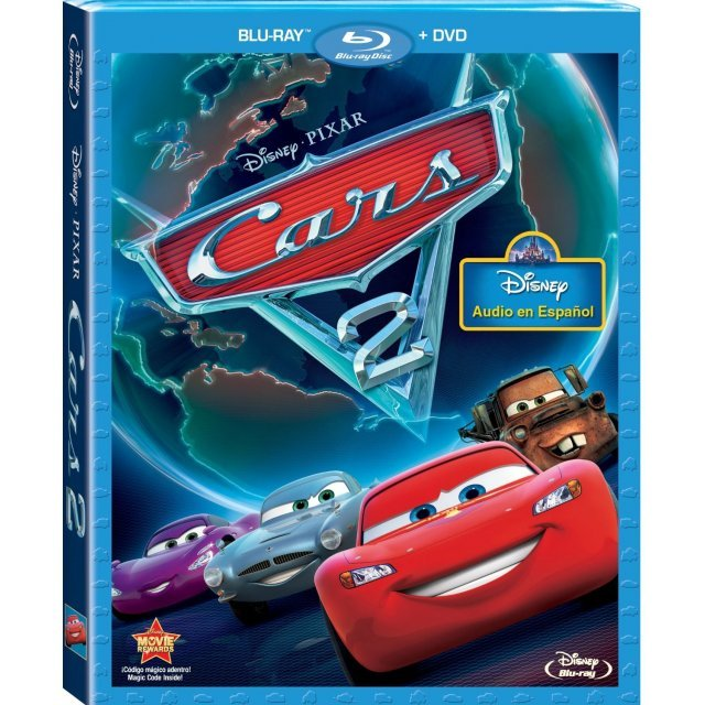 Cars 2 (Spanish Edition) [Blu-ray+DVD]