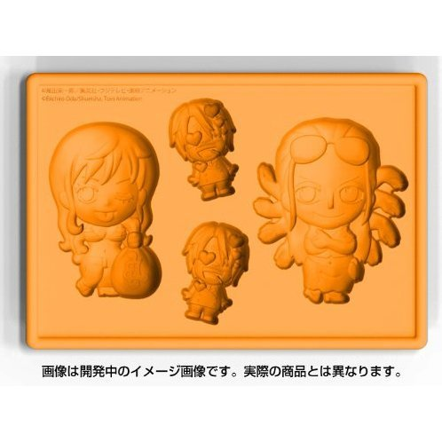 One Piece New World Version Silicone Ice Tray: Nami & Robin with Sanji