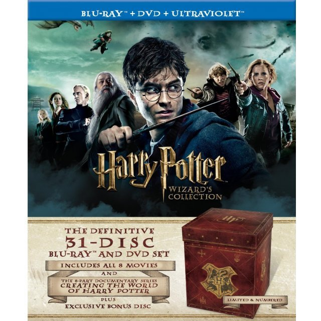 Harry Potter Wizard's Collection [Blu-ray 3D+Blu-ray+DVD+UltraViolet]