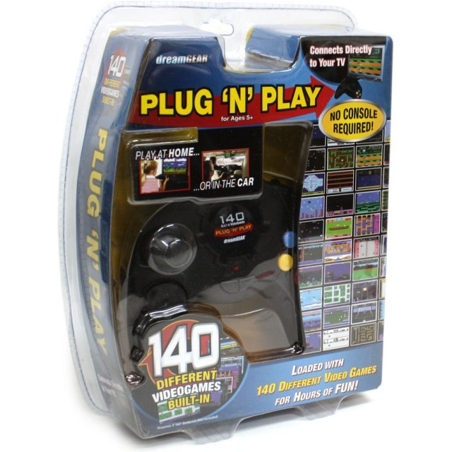 DreamGear 140 in 1 Plug 'N Play (Black)