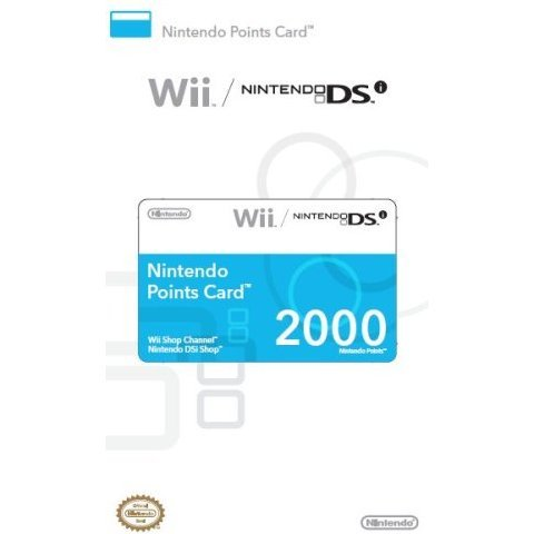 Nintendo Points Card (2000 Wii/DSi Points)