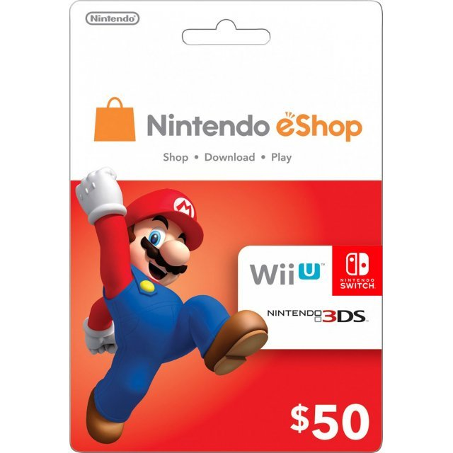 Nintendo eShop Card 50 USD | USA Account digital