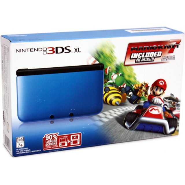 nintendo 3ds xl with mario kart 7 blue edition pre installed. Black Bedroom Furniture Sets. Home Design Ideas