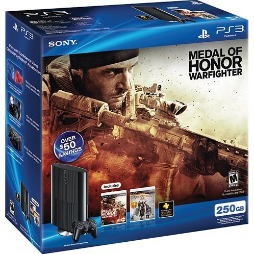 PlayStation3 New Slim Console (250GB Charcoal Black Model) - Medal of Honor: Warfighter Bundle