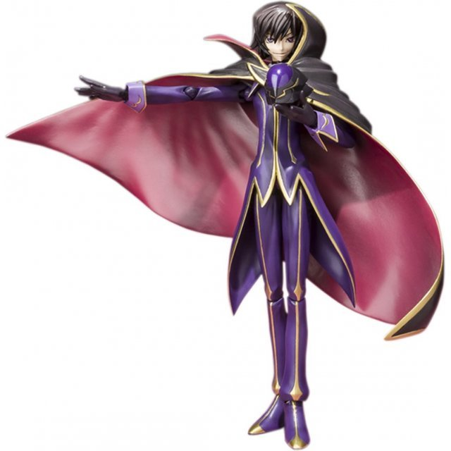 S.H.Figuarts Code Geass Lelouch of the Rebellion R2 Non Scale Pre-Painted PVC Figure: Lelouch Lamperouge Zero R2 Costume Ver.
